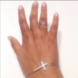 Beautiful Sterling Silver Set Ring And Bracelet